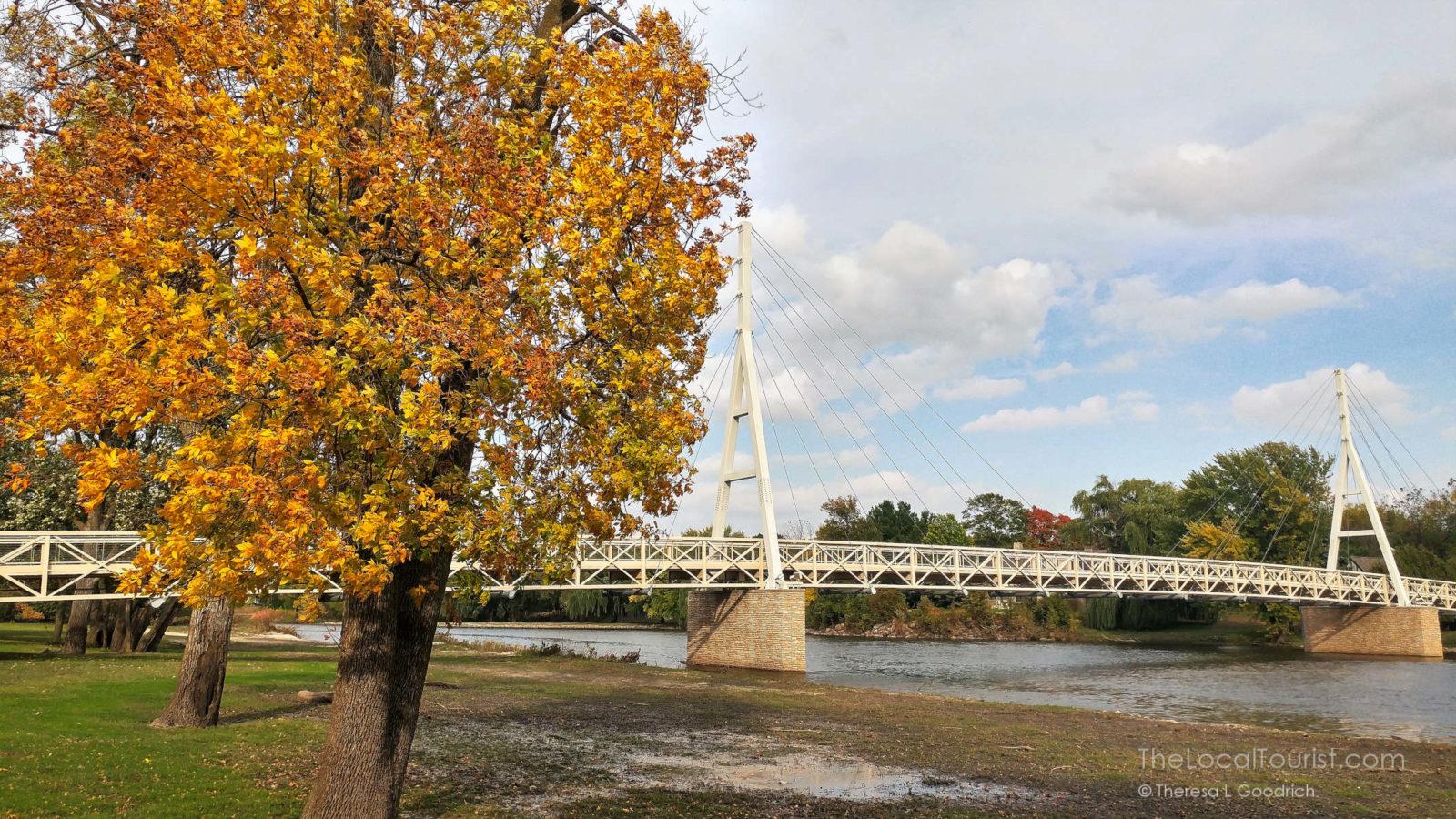 Suspension bridge in Charles City Iowa