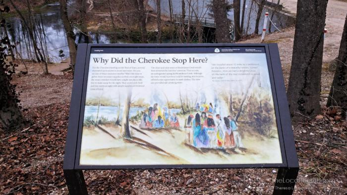 Trail of Tears Wayside Exhibit at the Roubidoux River
