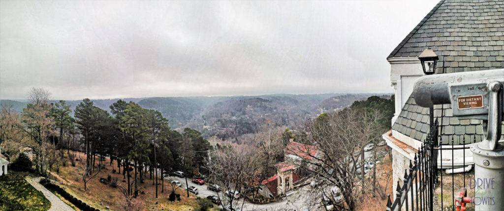 View of the Ozarks from 1886 Crescent Hotel & Spa