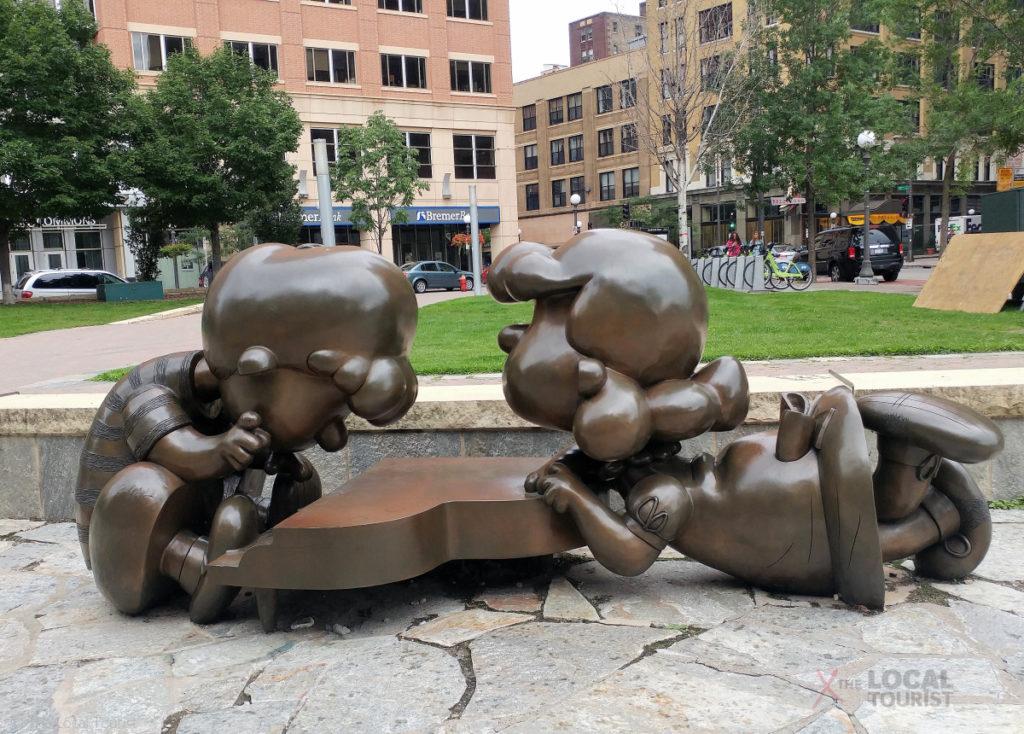 Peanuts Sculptures in downtown Saint Paul