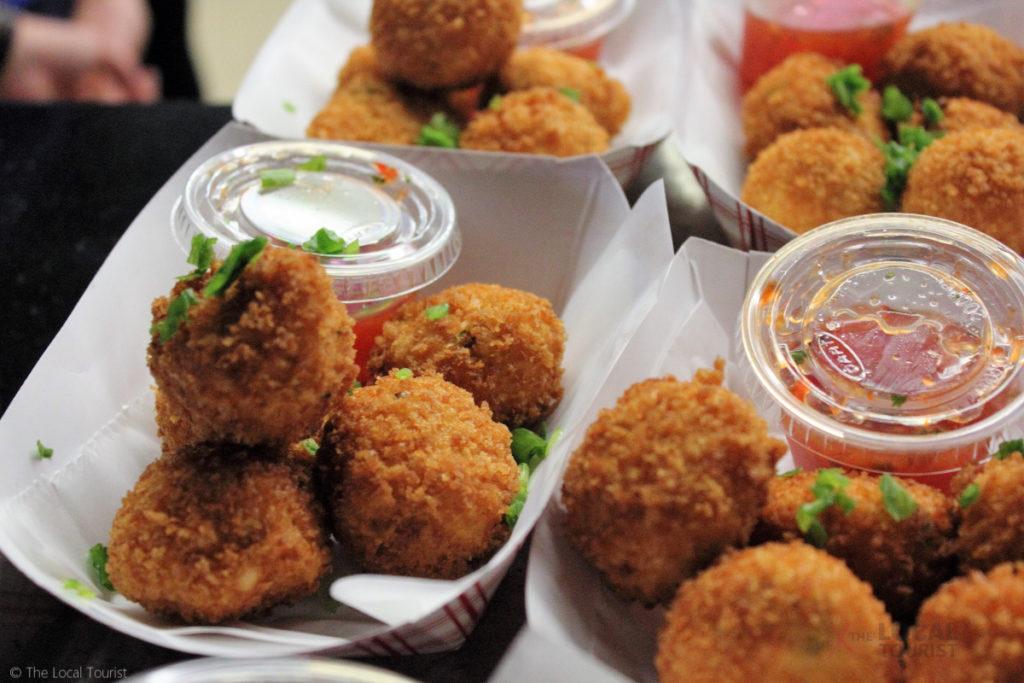 Deep Fried Sriracha Cheese Balls at the Minnesota State Fair