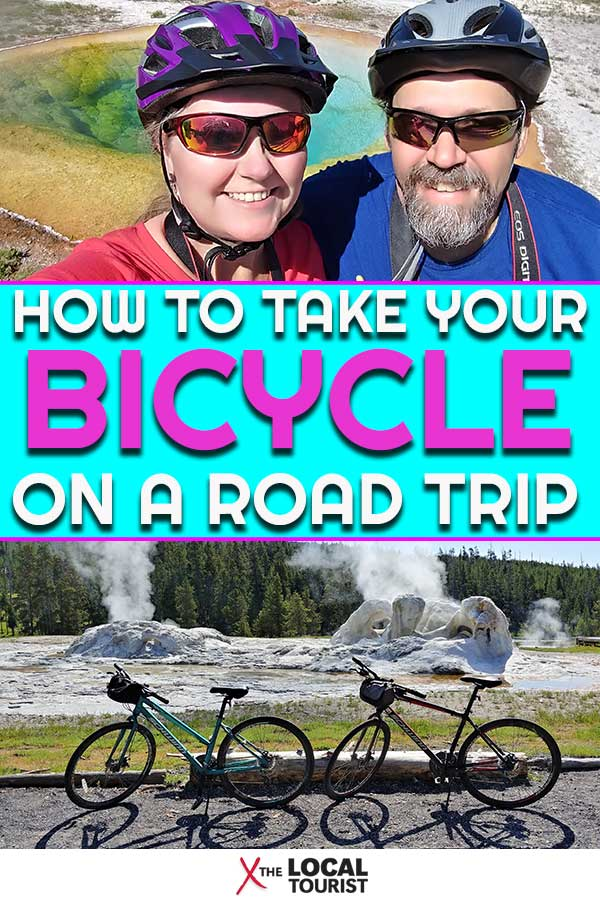 Thinking about taking your bicycle on a road trip? Check out these tips before you go and you'll have fun and keep your bike, and yourself, safe. #roadtrip #traveltips
