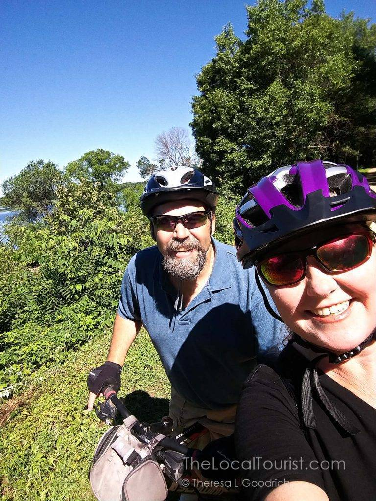 Jim and Theresa on the Great River State Trail