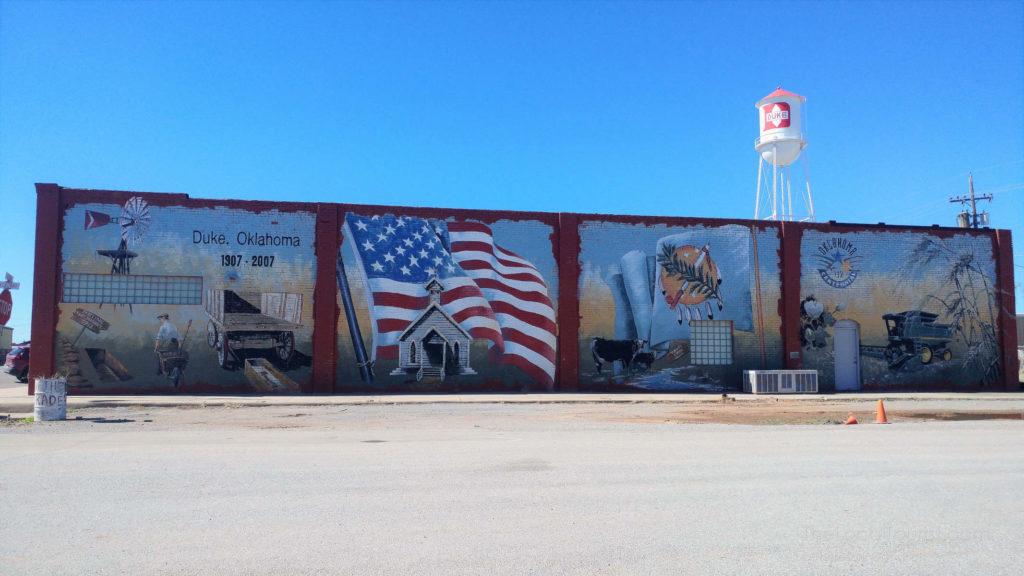 Mural in Duke, Oklahoma