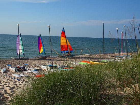 Boats in Harbert Michigan
