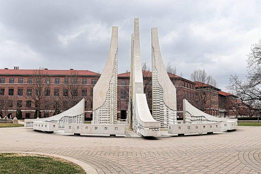Fountain at Purdue University