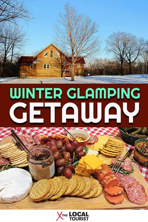 Need to get away? Check out these luxury cabins in North Central Iowa for a winter glamping getaway. #glamping #luxurycabins #traveliowa #usa #midwestus