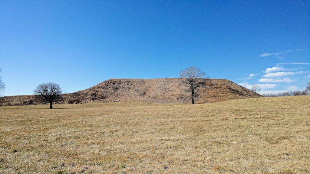 Monks Mound at Cahokia Mounds, a UNESCO World Heritage Site in Southern, Illinois