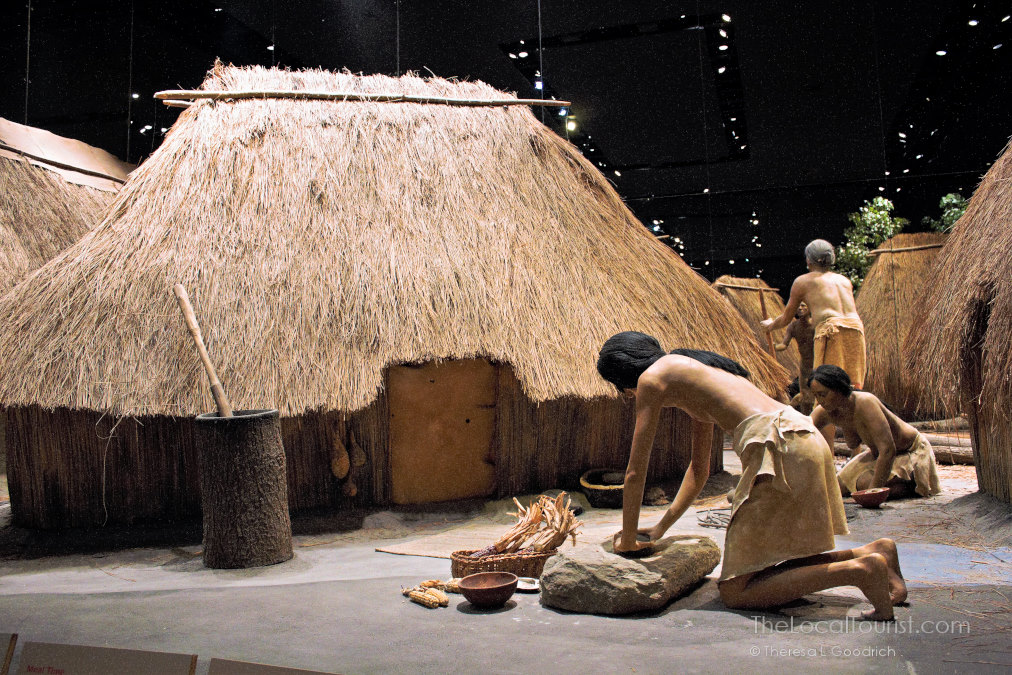 Inside the interpretative center at Cahokia Mounds