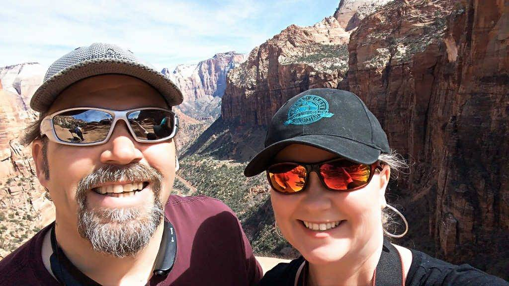 Jim and Theresa at Zion National Park