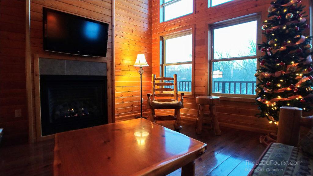 Living room in Red Cedar Lodge