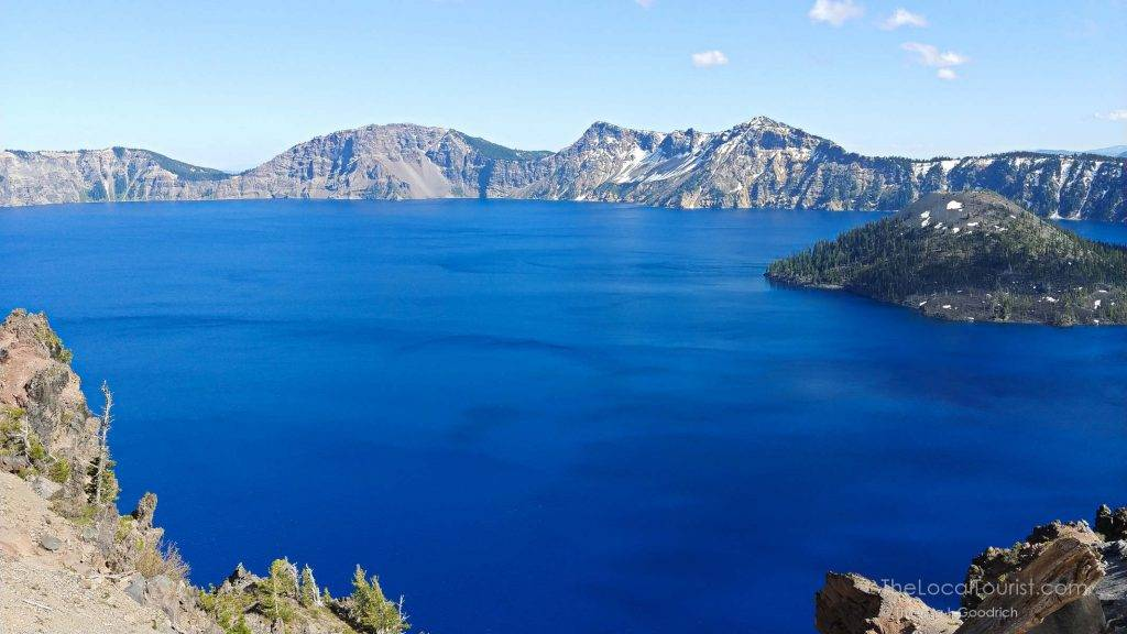 Crater Lake is a stunning and surreal blue so deep you don't believe it's real.