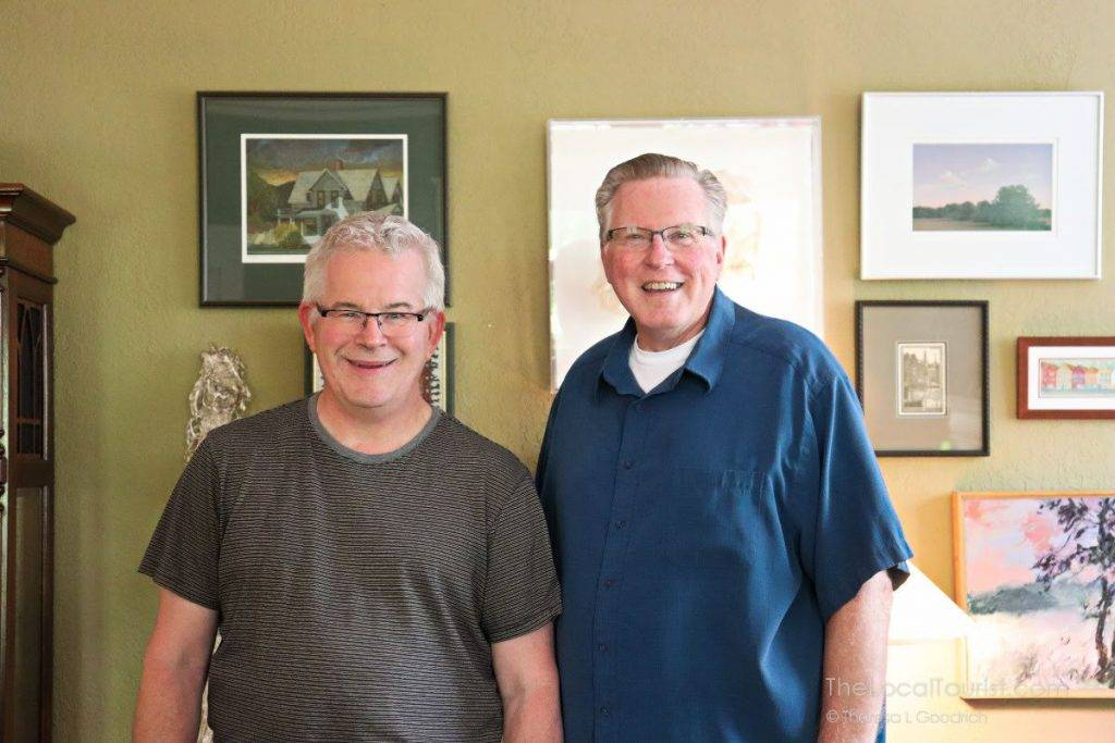 Mark and Bob, proprietors of Brown Street Inn, a charming bed and breakfast in Iowa City