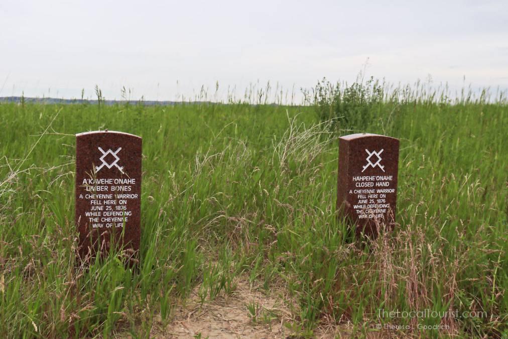 Little Bighorn Battlefield Photos: Native American grave markers