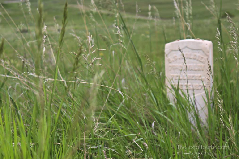 Grave marker at Little Bighorn Battlefield National Monument