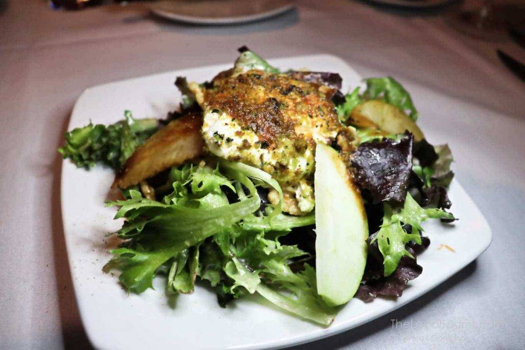 Warm goat cheese salad at 1776 Restaurant