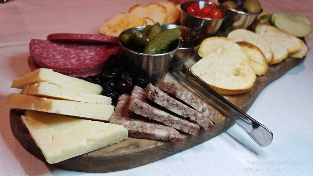 Cheese and charcuterie board at 1776 Restaurant