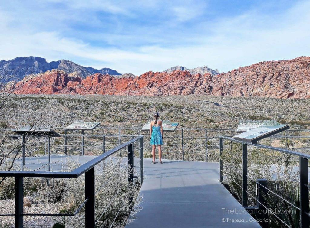 Young girl admiring Red Rock Canyon Las Vegas