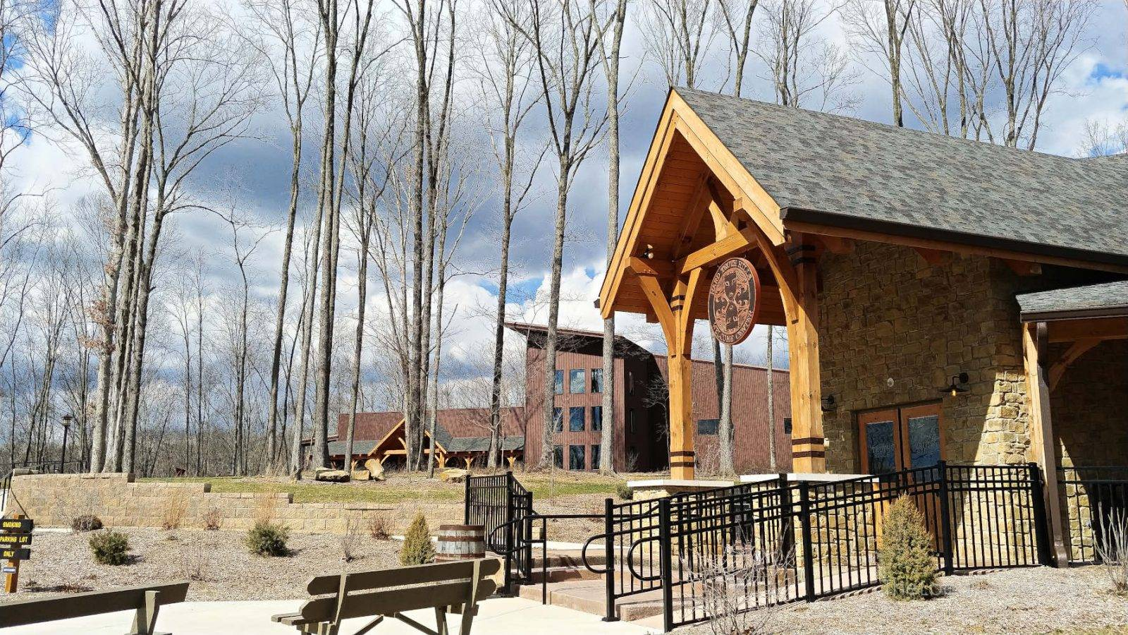 Welcome Center and Big Woods Restaurant at Hard Truth Hills