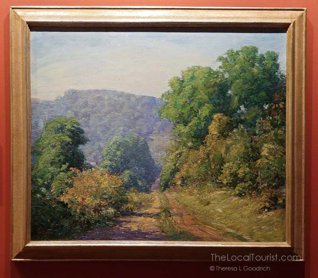 Gorgeous landscape painting by Veraldo Giuseppe Cariani, a member of the Hoosier Salon and founding member of the Brown County Art Guild