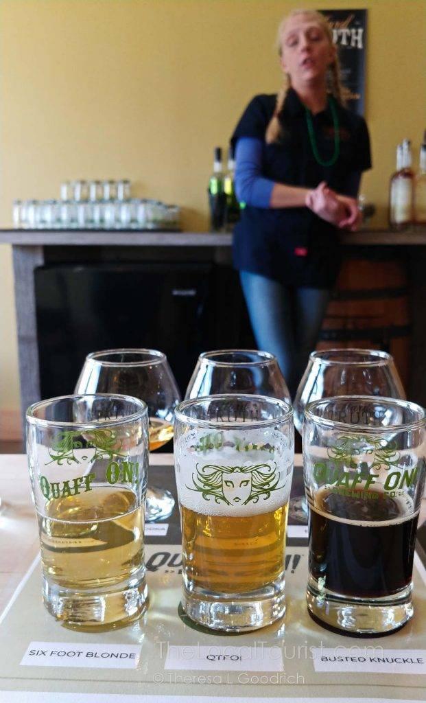 Beer and spirits tasting at Hard Truth Hills