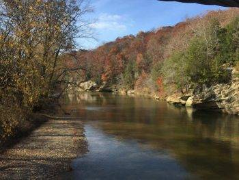 View of Sugar Creek from Suspension Bridge