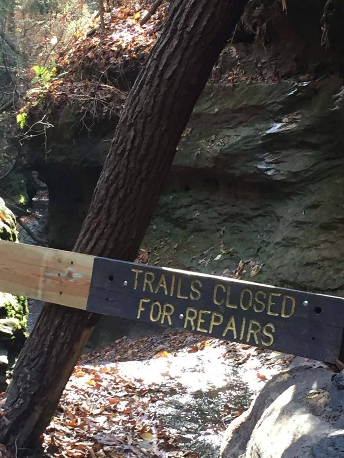 Trail closed for repairs