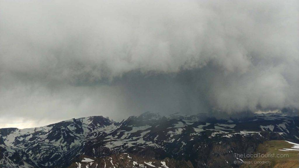 Squall in the distance from Beartooth Highway