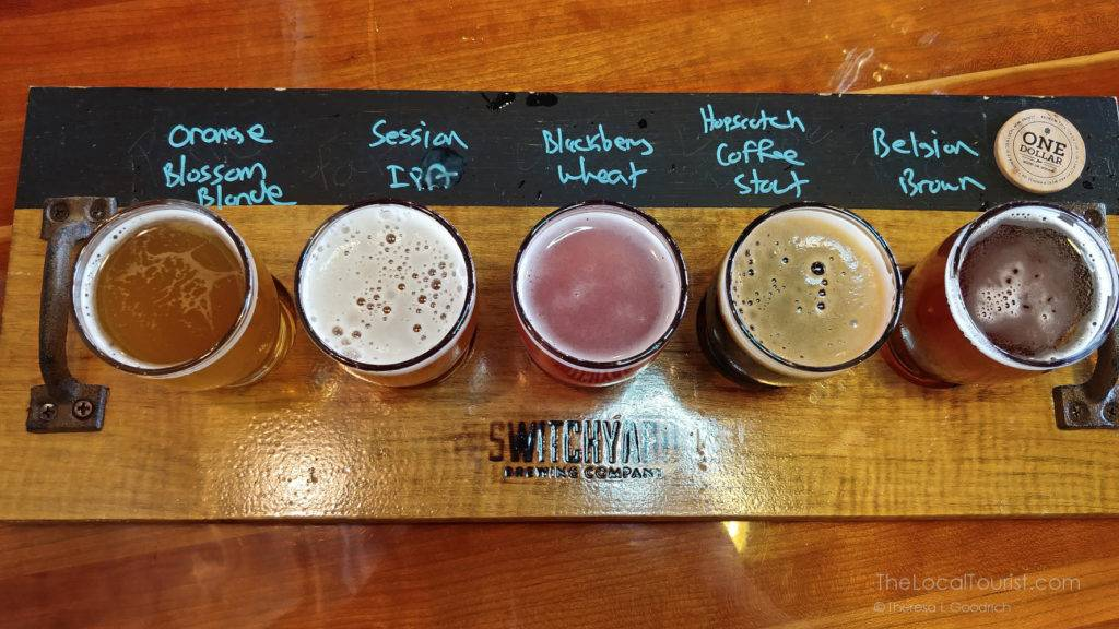 Switchyard Brewing flight of beers