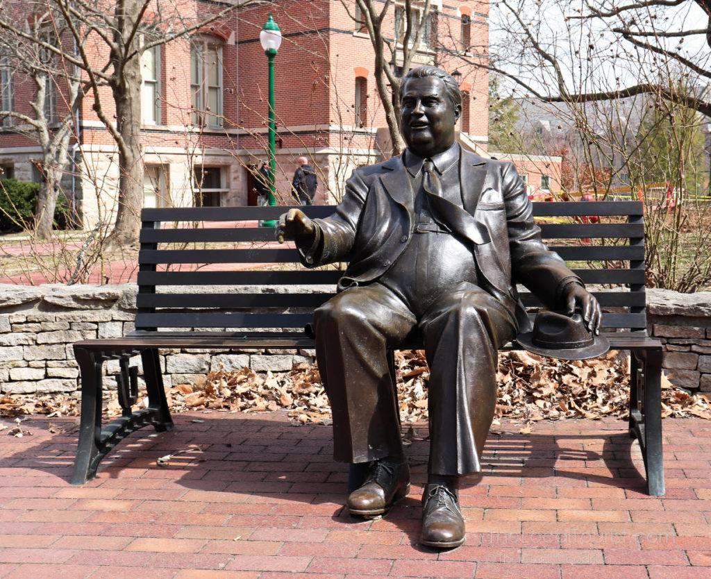 Herman B Wells statue at Indiana University