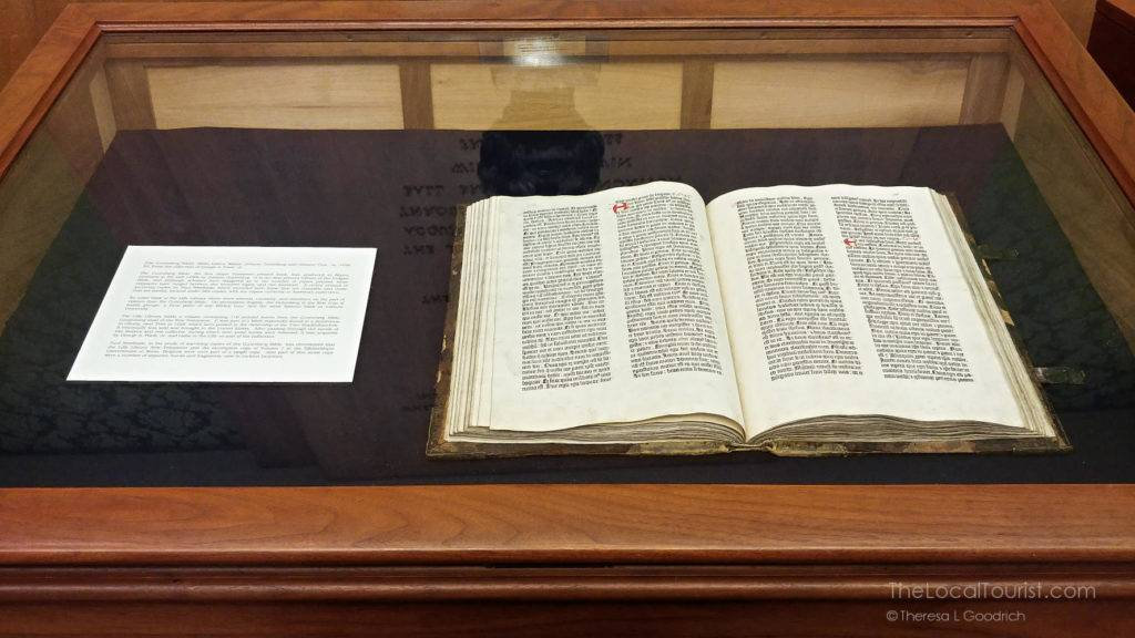 Gutenberg Bible in the Lilly Library at Indiana University