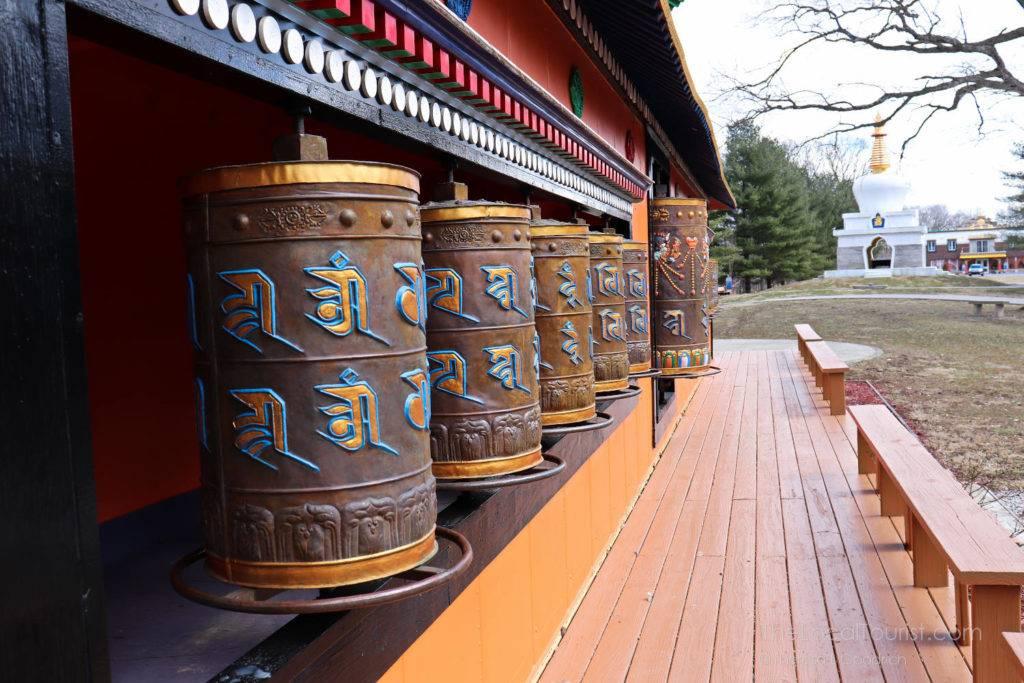 Mani Korlo at Tibetan Mongolian Buddhist Cultural Center in Bloomington Indiana