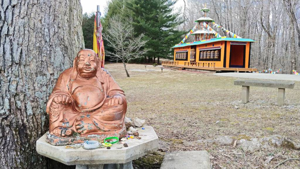 Buddha and Mani Korlo at the Tibetan Mongolian Buddhist Cultural Center