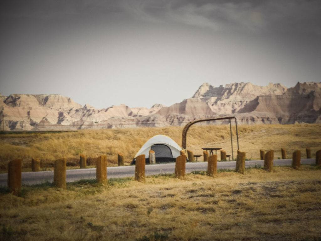 Camping at Cedar Pass Campground in Badlands National Park, one of the few Midwest National Parks