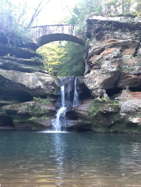 Waterfall at Hocking Hills State Park, photo by Brandy Gleason
