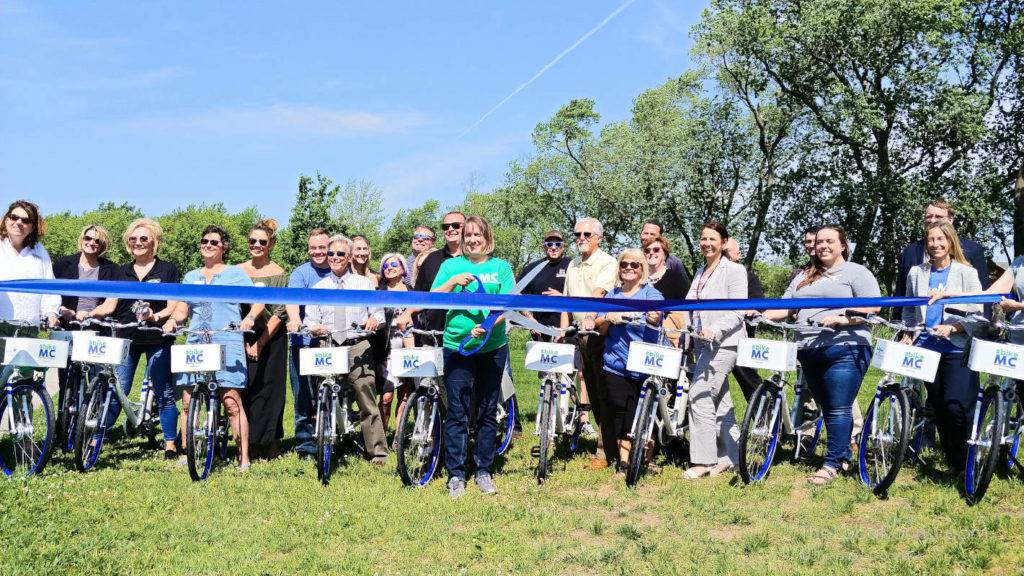 Ribbon cutting ceremony for #BIKEMC
