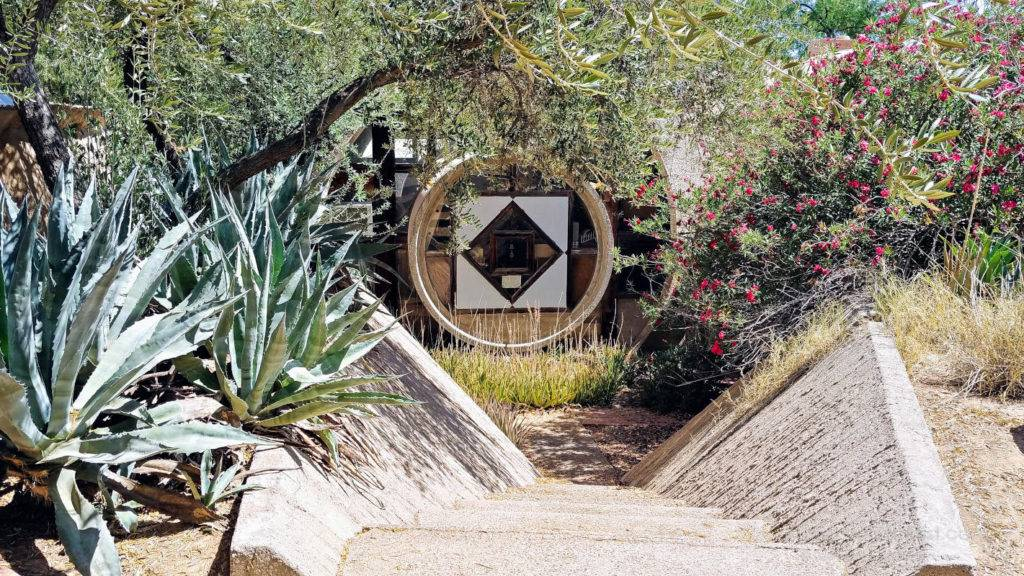 Inside Cosanti, the home and studio of Paolo Soleri