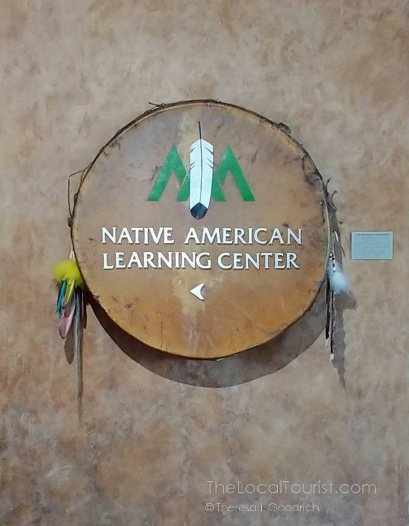 Sign for the Native American Learning Center at Hyatt Regency Scottsdale Resort and Spa