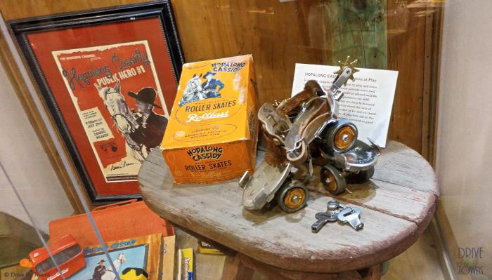 Western Film Museum - Hopalong Cassidy Roller Skates with spurs