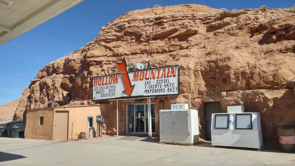 Hollow Mountain Gas Station in Utah