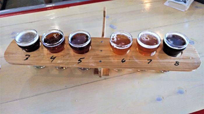 Beer Flight Caddy at Aero Plains Brewing