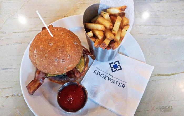 Augie's Burger and handcut fries at Augie's Tavern at The Edgewater, Madison, Wisconsin