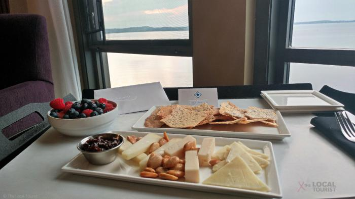 Cheese tray at The Edgewater in Madison, Wisconsin
