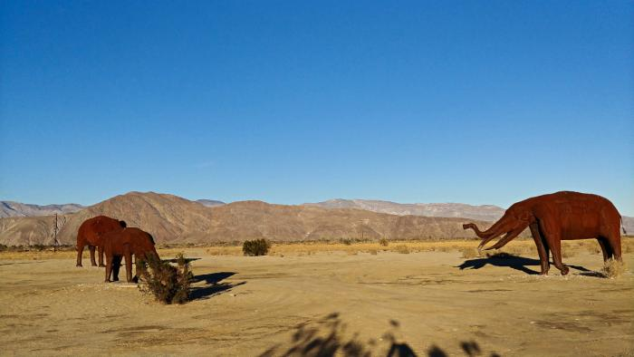 Borrego Springs Elephant Sculpture by Ricardo Breceda