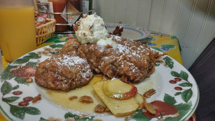 Gluten-free banana bread french toast at Doo-Dah diner
