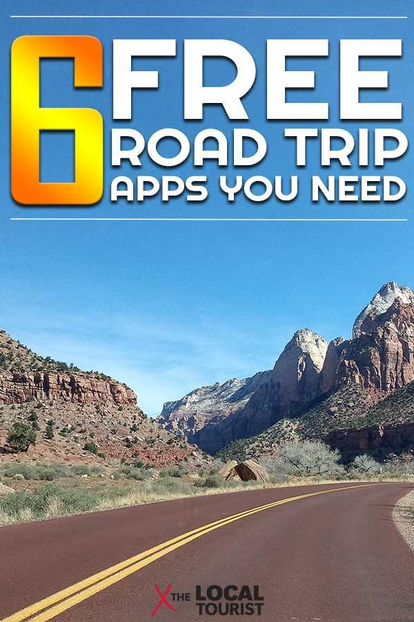 A seasoned road trip warrior shares 6 free and essential road trip apps. #roadtrip #roadtripapps #roadtripessentials