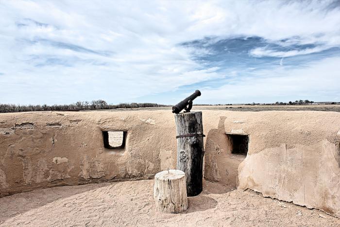 Corner bastion at Bent's Old Fort National Historic Site