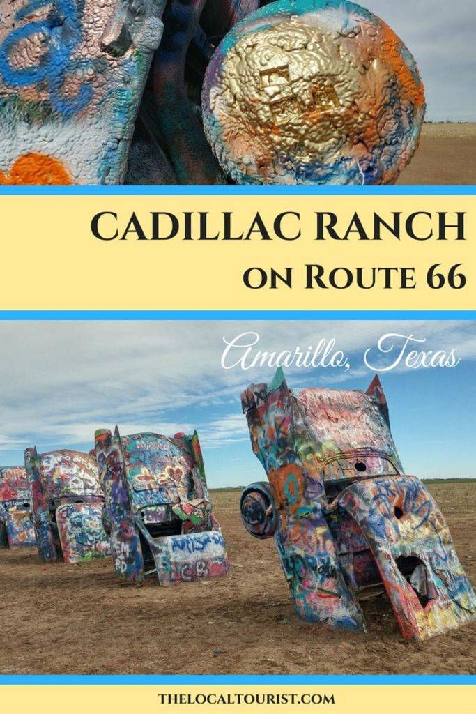 Cadillac Ranch is a quirky Route 66 roadside attraction located outside of Amarillo, Texas