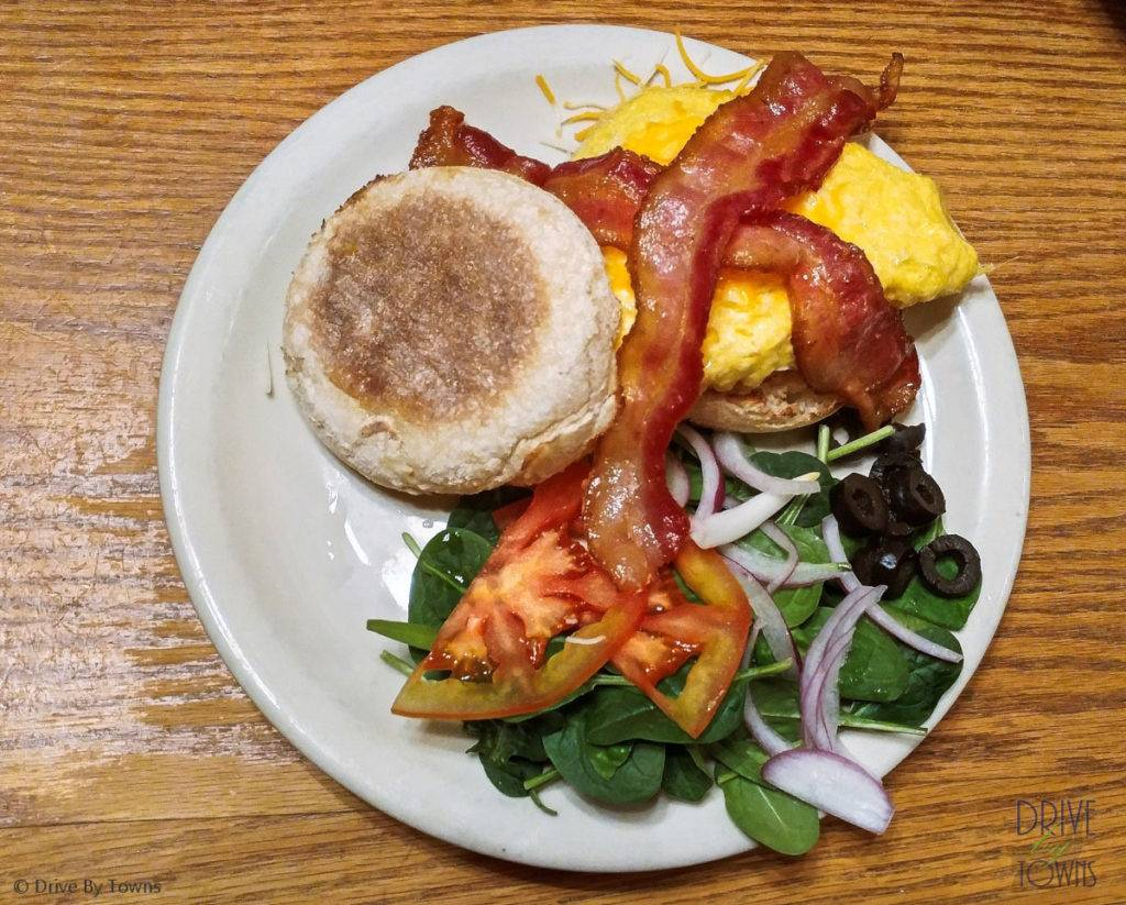 Mud Muffin with Bacon at Mud Street Cafe
