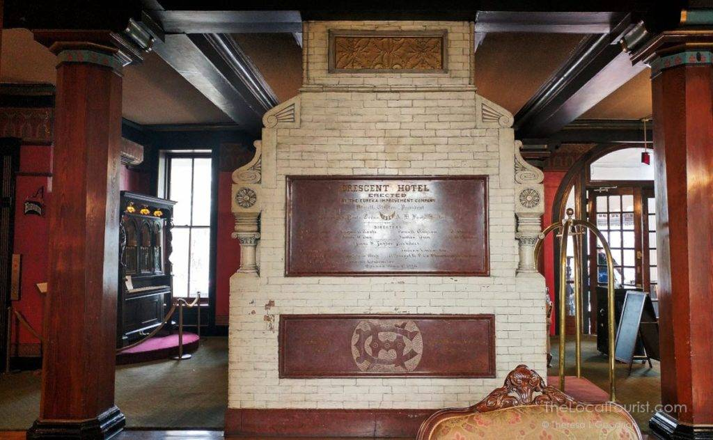 Grand Fireplace at 1886 Crescent Hotel in Eureka Springs, AK